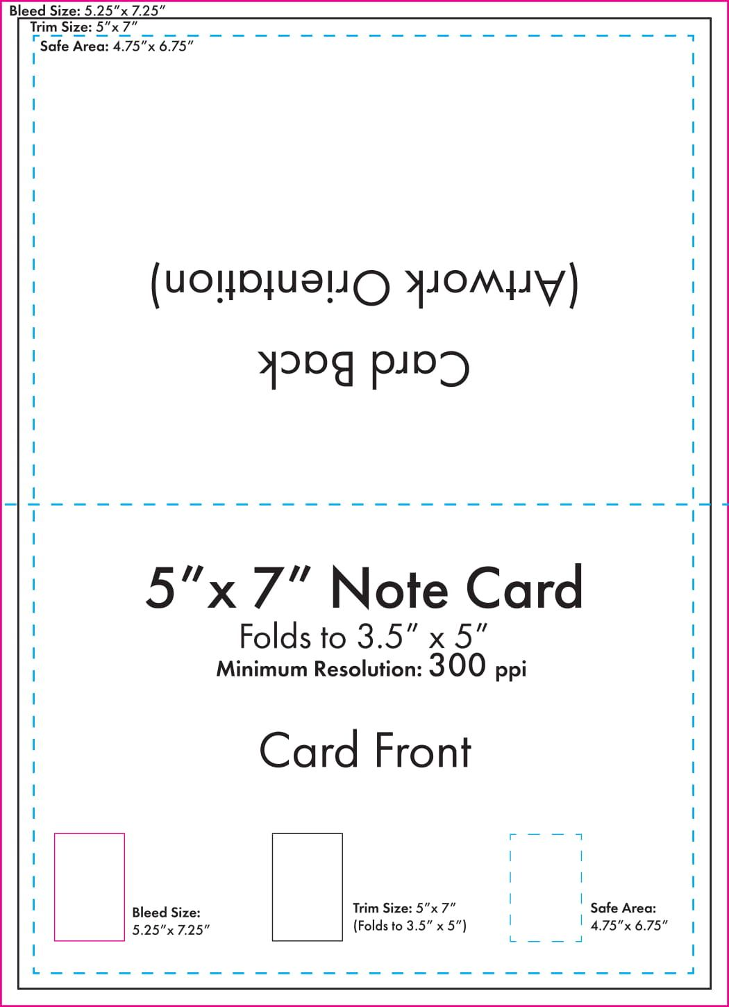Folded Note Card Template Papele Alimentacionsegura In Place Card Size Template Note Card Template Folded Note Card Greeting Card Template