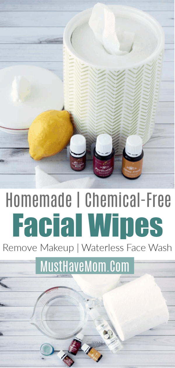 Homemade chemical free makeup remover wipes using