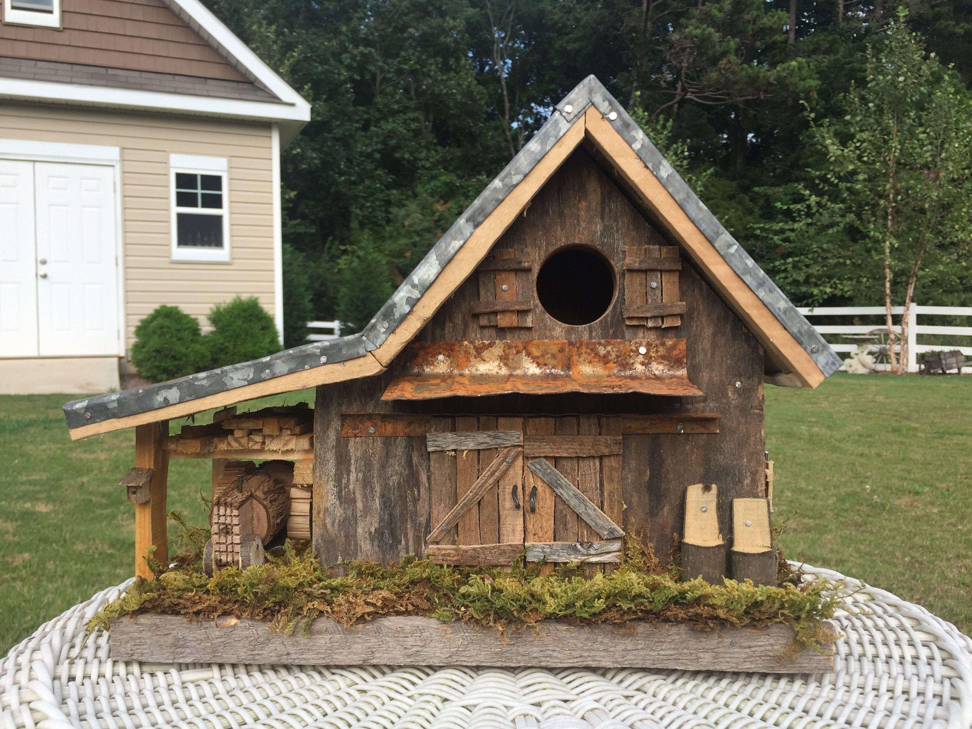 Fabulous Rustic Barn Birdhouse Birdhouse Ideas Decorative Bird Interior Design Ideas Philsoteloinfo