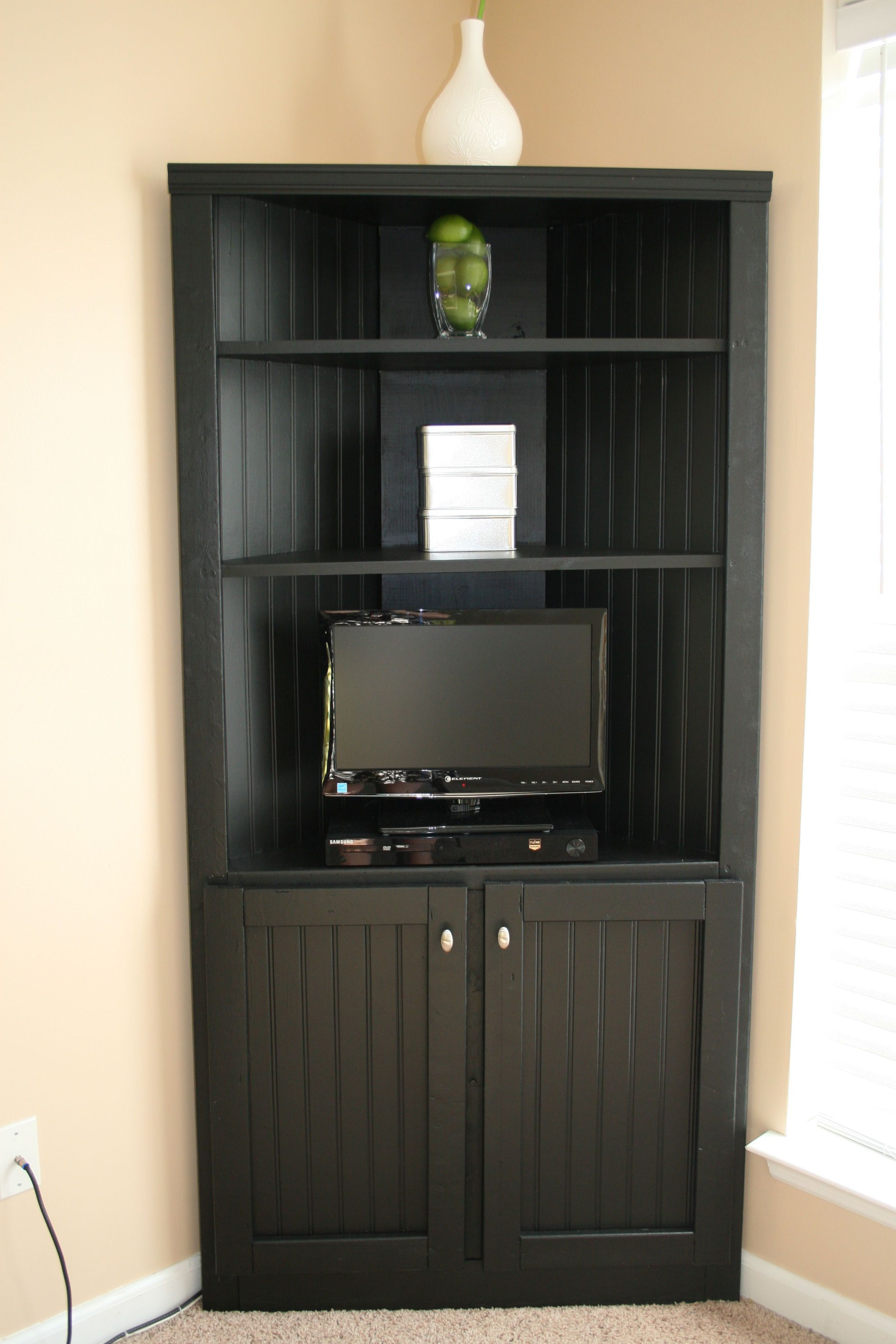 Corner Storage Cabinet Shelf Do It Yourself Home Projects From