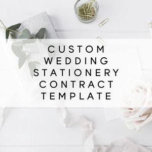 Custom Calligraphy Or Stationery Contract Template  Template