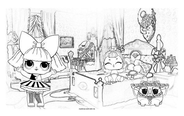 Раскраски куколок ЛОЛ. 80 Чёрно-белых картинок. Скачайте ...