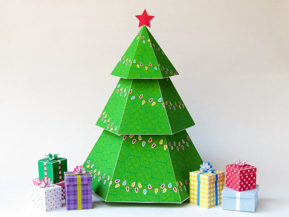 Cute Idea Easy Diy Christmas Tree Ornament That S A Gift Box Perfect For Gift Cards Jewelry Diy Christmas Tree Ornaments Christmas Crafts Diy Christmas Diy