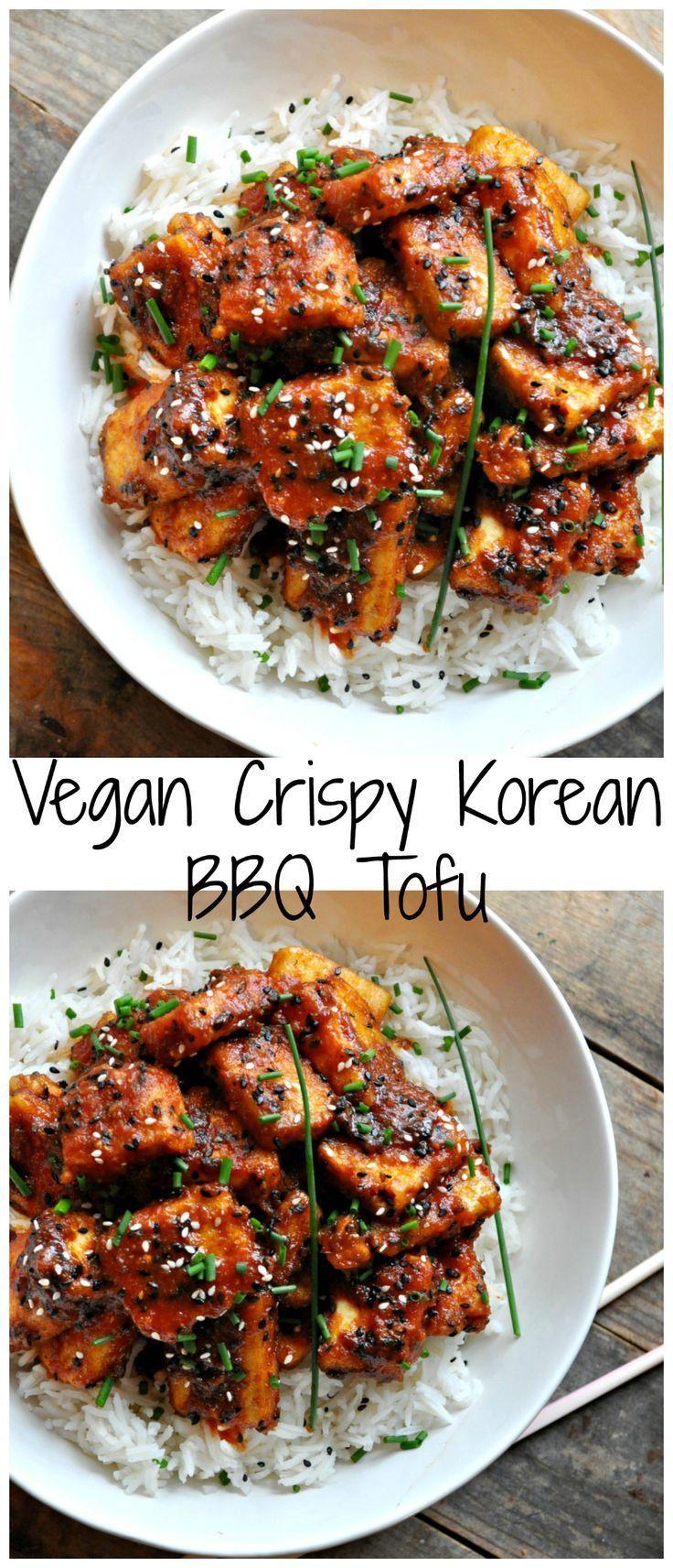 Super crispy tofu tossed in the most delicious Korean