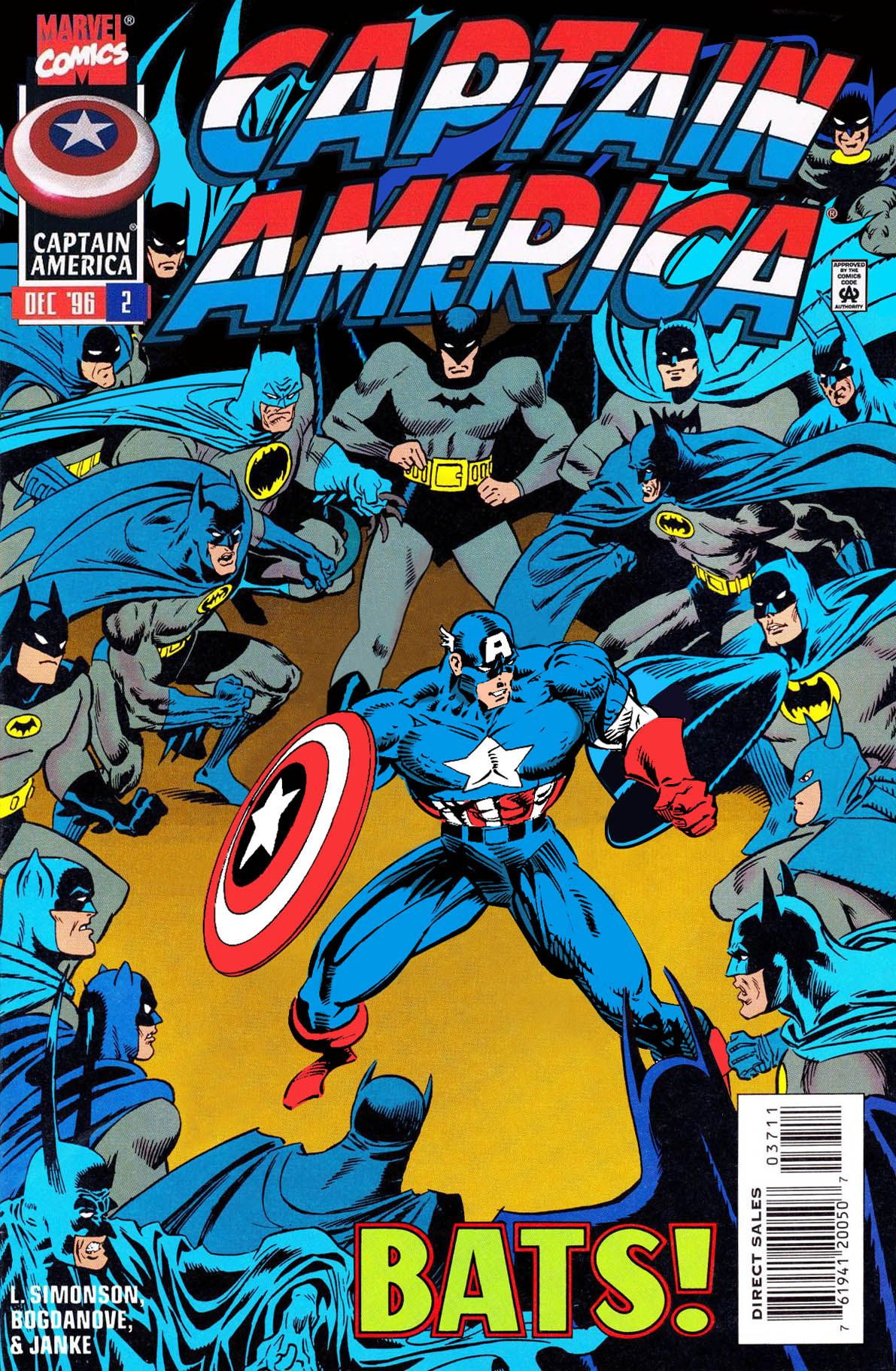 Batman Party For Dinner Captain America Created By Sasqwatch