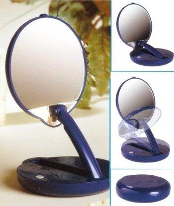 Magnifying Lighted And Adjustable Compact Mirror 15x Magnifying