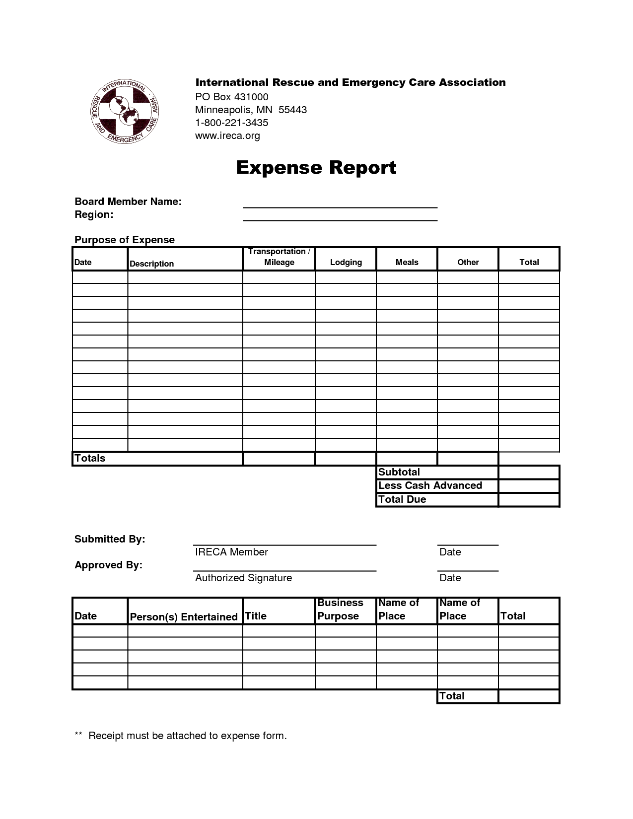 Clever Business Expense Report Template And Form Sample Vueklar