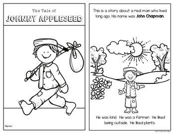 Johnny Appleseed An Emergent Reader For Kindergarten And First