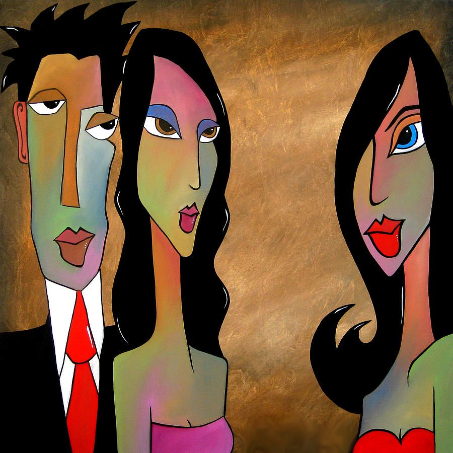 Here Comes Trouble By Tom Fedro Original Abstract Art Painting Abstract Face Art Pop Art Collage