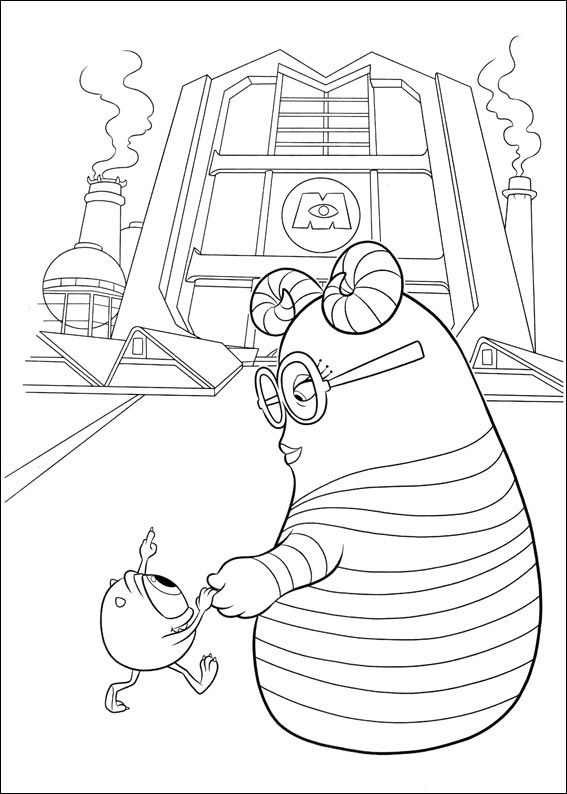 Stunning Monsters Inc Coloring Book 93 Monsters Inc Online coloring