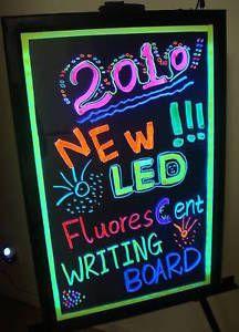 Flashing Illuminated Erasable Neon LED Message Writing Board