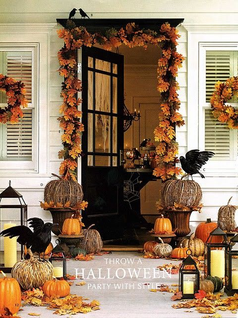Pin by Angela Gibbs on Holiday Decor Pinterest Porch makeover - halloween decoration ideas home