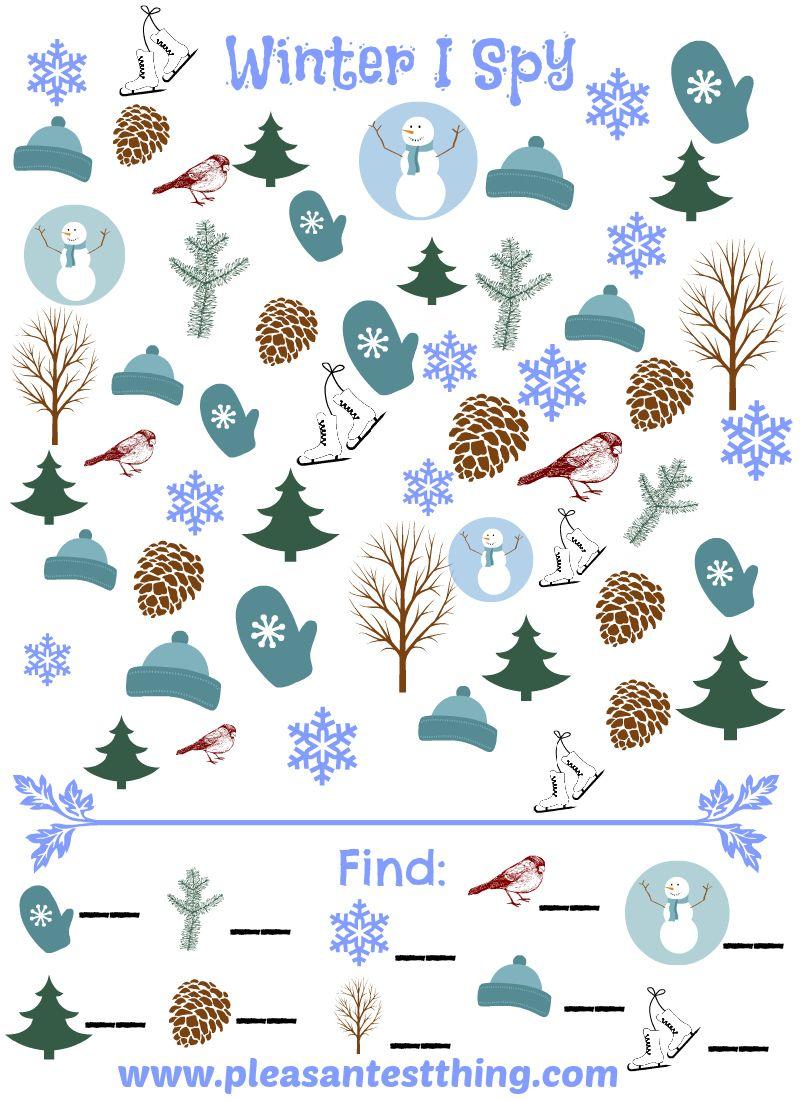 Pin By Elif On Tokaluokka In 2020 Winter Preschool I Spy Games Winter Theme [ 1100 x 800 Pixel ]