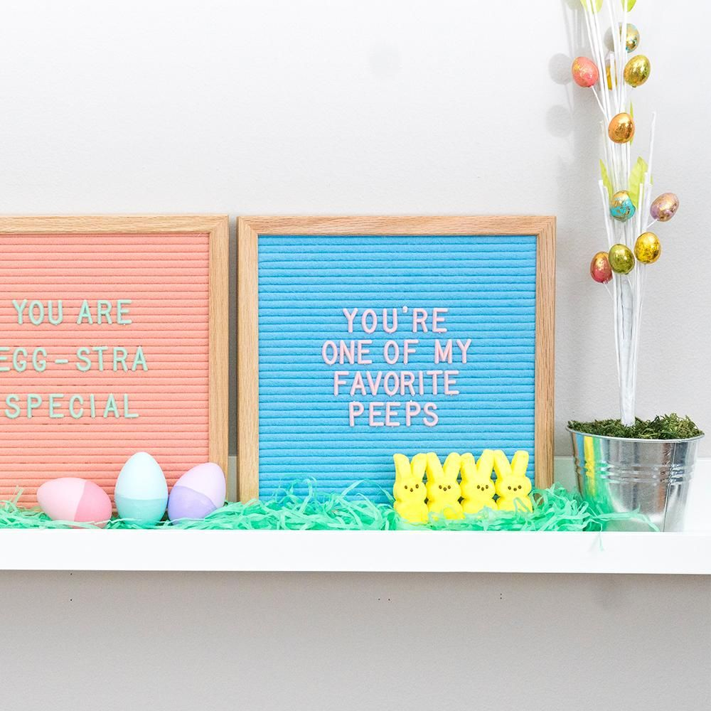 Easter Deocrating Idea. Felt Letter Board Quote And Home