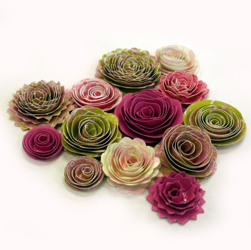 Handmade paper roses  Paper craft  Pinterest  Paper roses Craft