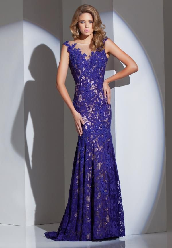 purple evening dresses (11) | All Things Cute | Pinterest | Lace ...