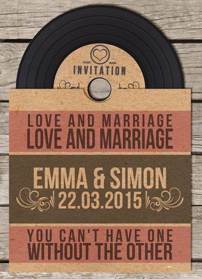 40 x vinyl cd wedding invitation by beourguestdesigns on for Etsy vinyl wedding invitations