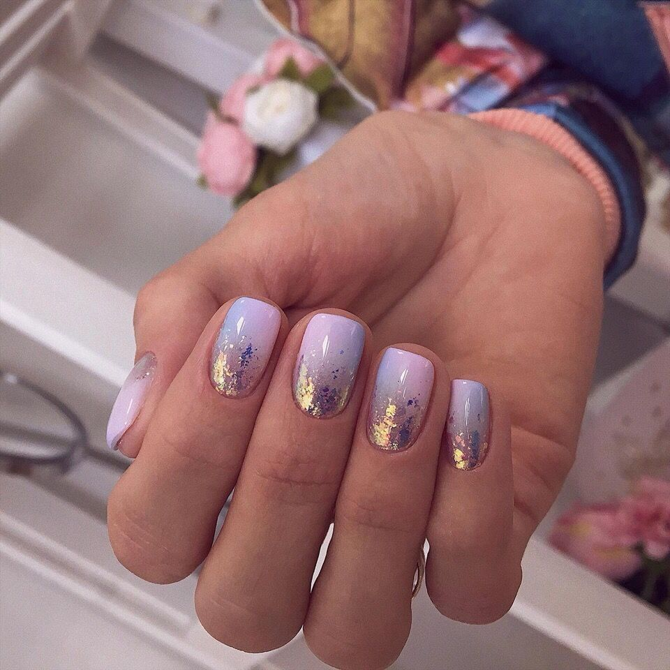 Pin By Amanda Chorley On Unas Purple Glitter Nails Foil Nails Fashion Nails