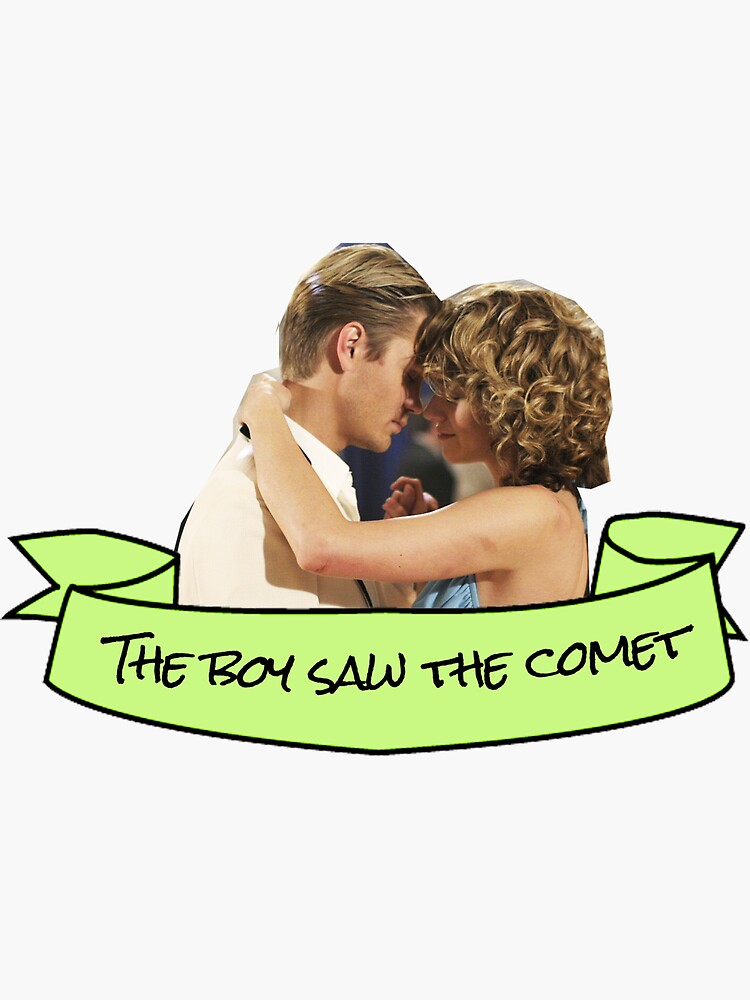 lucas peyton the boy saw the comet sticker sticker by
