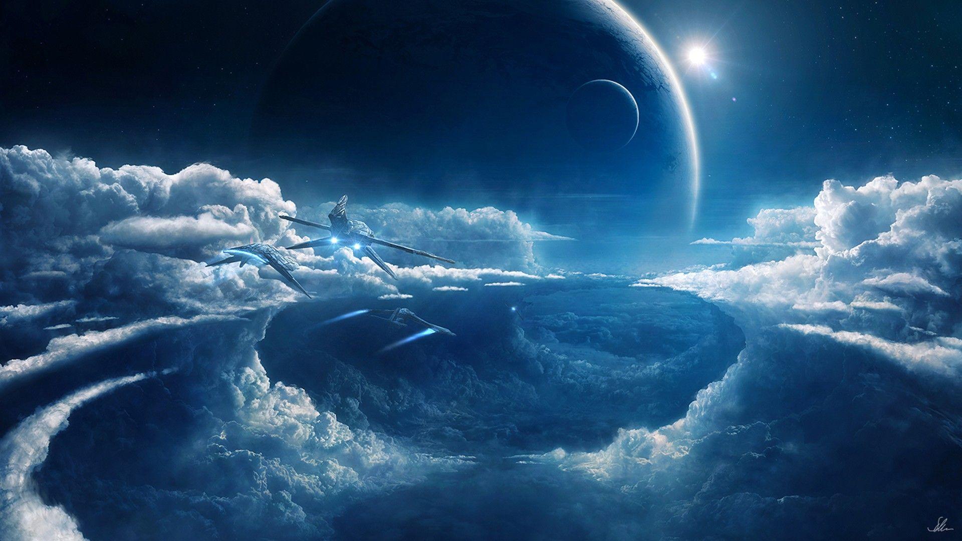 Prometheus Outer Space Planets Wallpaper 2555822 Wallbase Cc Sci Fi Wallpaper Fantasy Landscape Futuristic Art