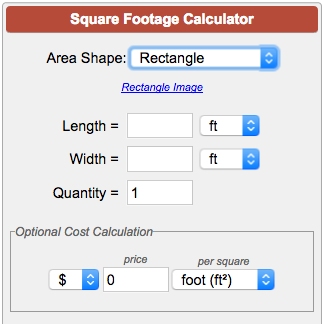 Calculate square footage square meters or square yardage for Find sq footage