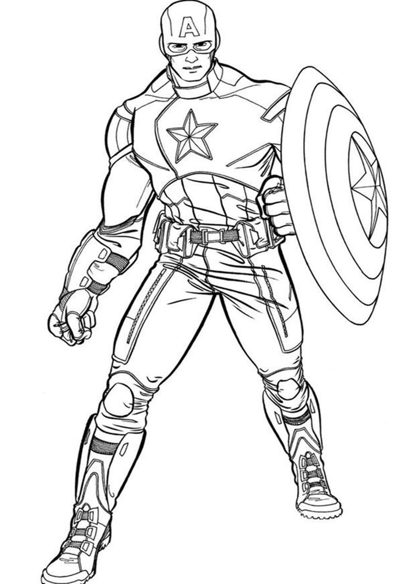 Free & Easy To Print Captain America Coloring Pages ...