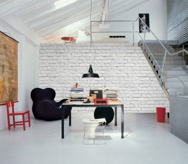16 White Brick Wall Interior Designs To Enter Elegance In The Home | White  Brick Walls, Black Furniture And Bricks