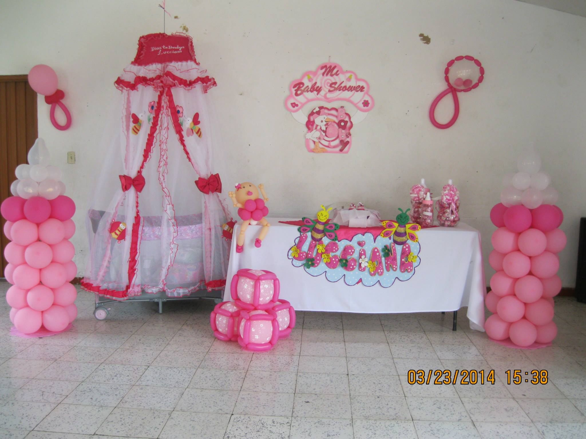 Facebook globos y manualidades la del payasito fondo - Baby shower decoracion ...