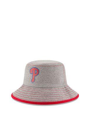 0bbdfa247b1 New Era Philadelphia Phillies Grey Heather Tot Bucket Baby Sun Hat ...