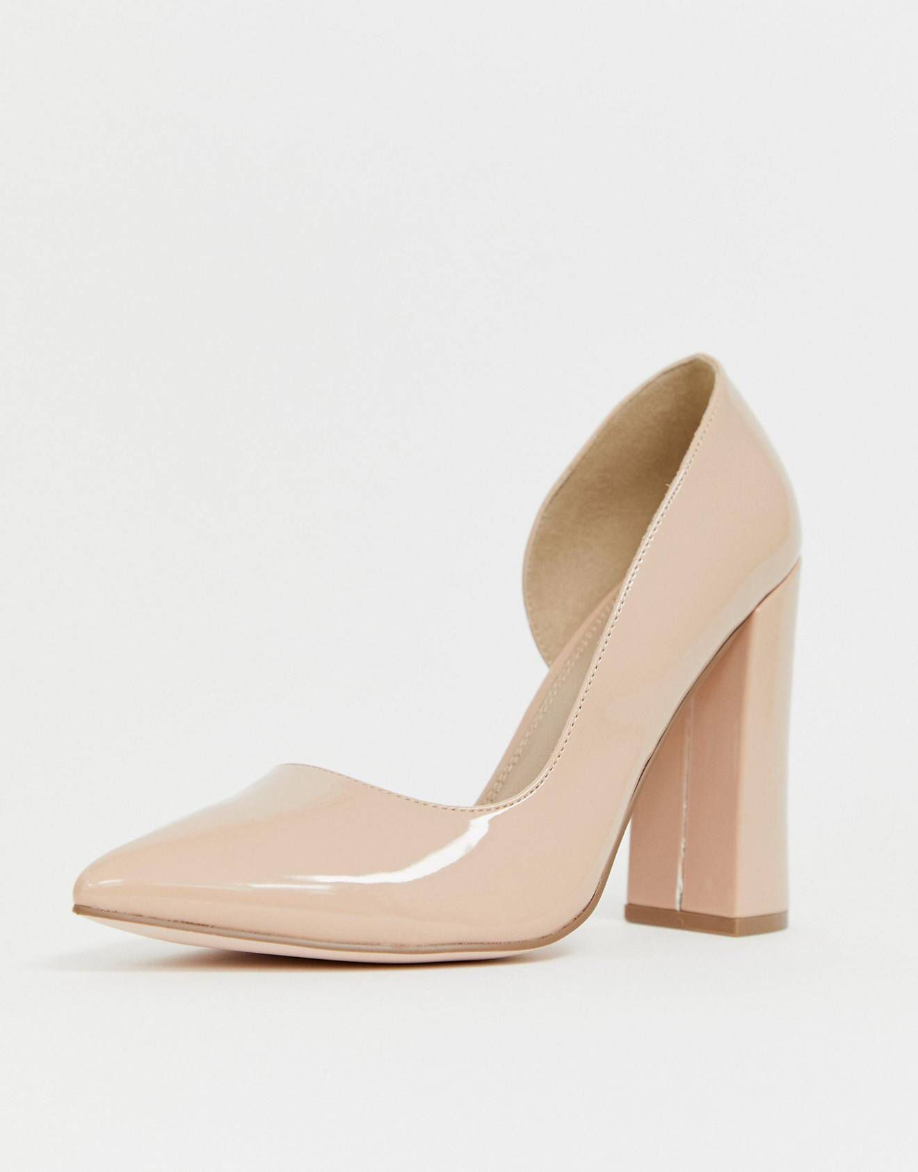 5a08dbe3f4e DESIGN Wide Fit Walter d orsay high heels in almond