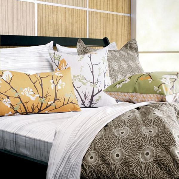 Rhythm in Chocolate Home Bedding by Inhabit