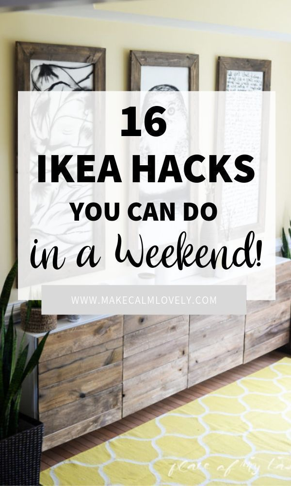 Here are 16 absolutely amazing IKEA hacks you can do in a weekend #ikea #ikeahack