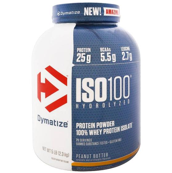Dymatize Iso 100 Protein Powder 100 Whey Protein Isolate 5 Lb Chocolate Peanut Butter Hydrolyzed Whey Protein Whey Protein Isolate Isolate Protein