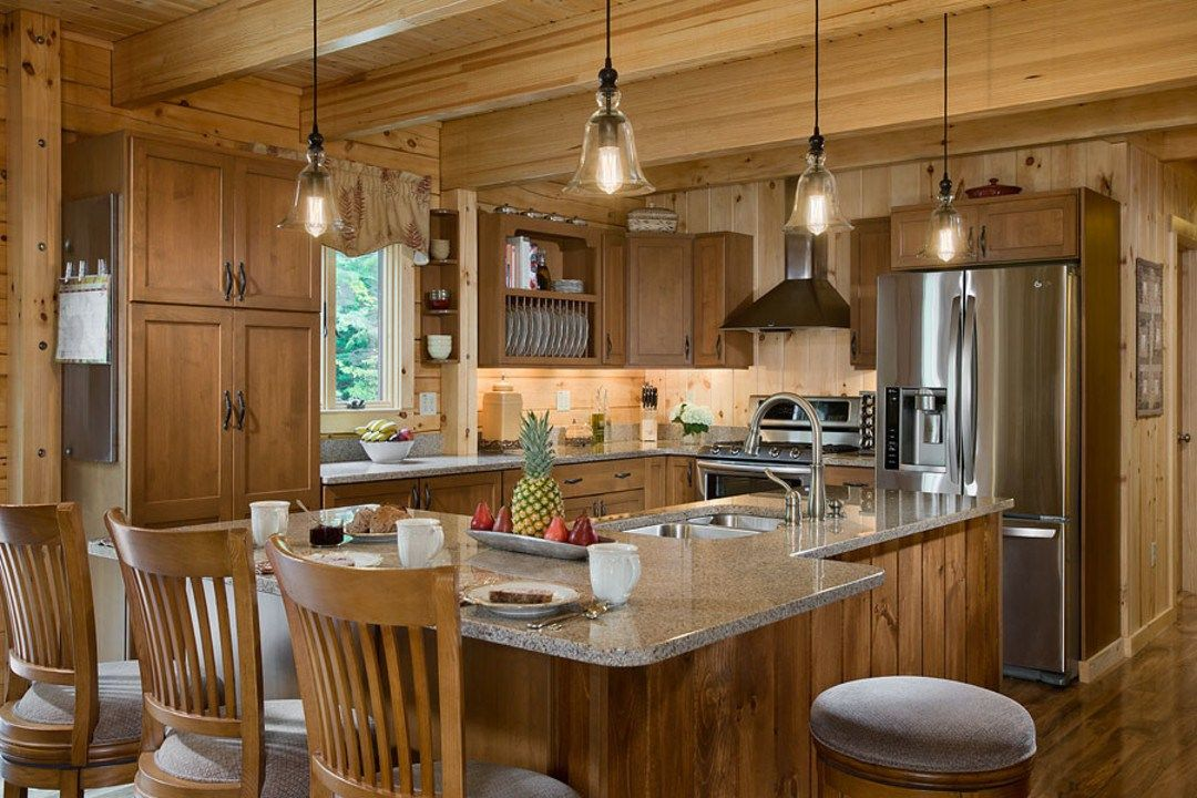 Custom Rustic Kitchens log homes cabins custom craftsman rustic kitchen superb design