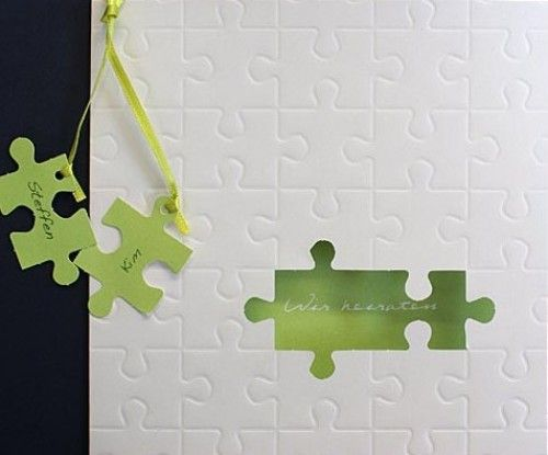 einladung als puzzle | hochzeit | pinterest | einladungskarten zur, Kreative einladungen