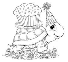 birthday turtle- this would be great too for kids to write