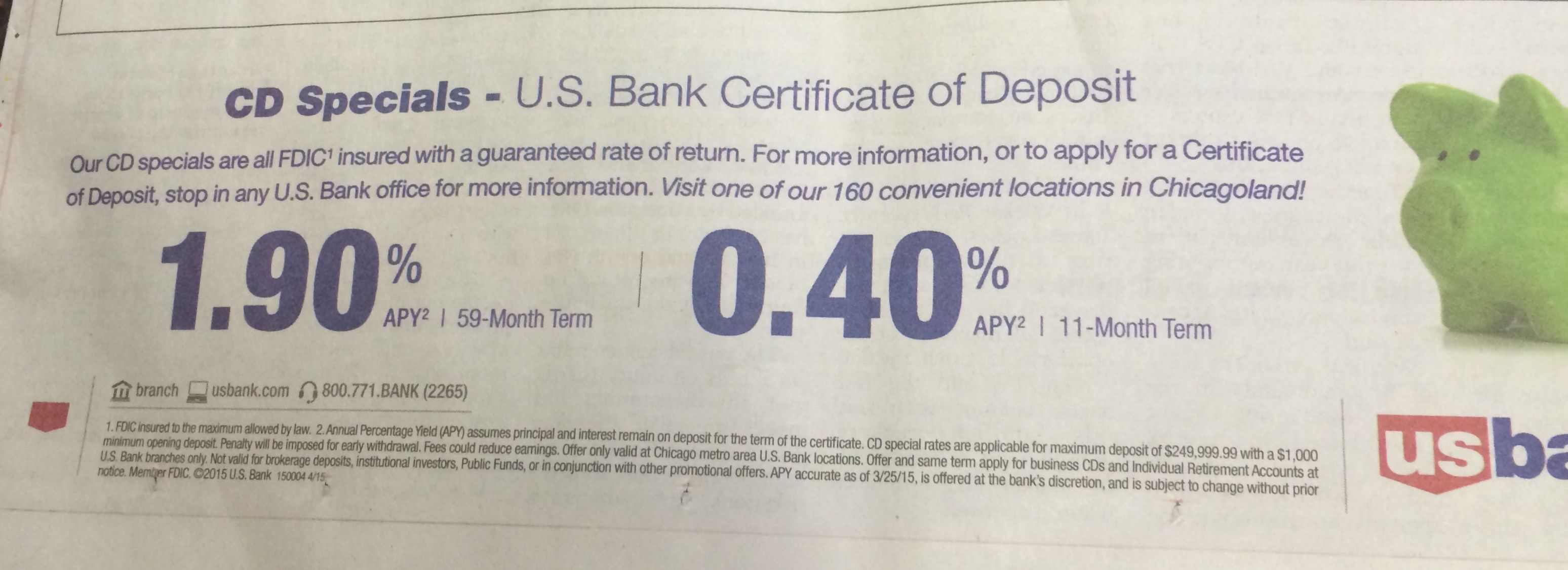 Usbank touts 59 11 month cds w 19 040apys respectively usbank touts 59 11 month cds w 19 1betcityfo Gallery
