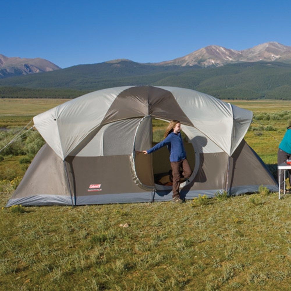 Coleman Coleman Weathermaster 10 With Hinged Door This Is What I Would Like I Do Not Like Zipper 10 Person Tent Best Family Tent Best Tents For Camping