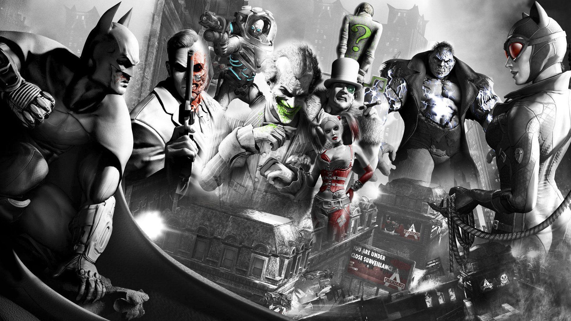 High Def Gaming Backgrounds For Your Computer Desktop Performance Psu Http Www Performancepsu Com Batman Arkham City Arkham City Joker Wallpapers