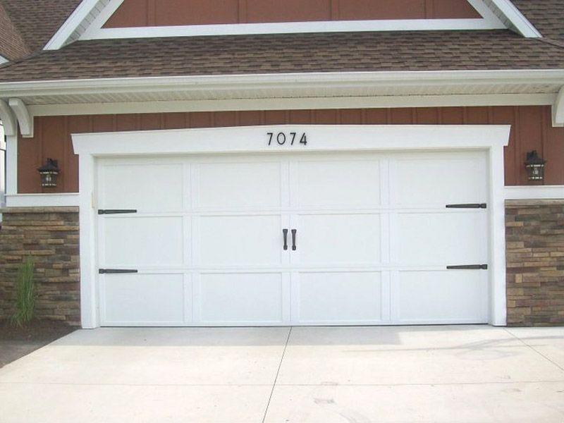 add hardware and street numbers to dress up garage door - Decorative Garage Door Hardware