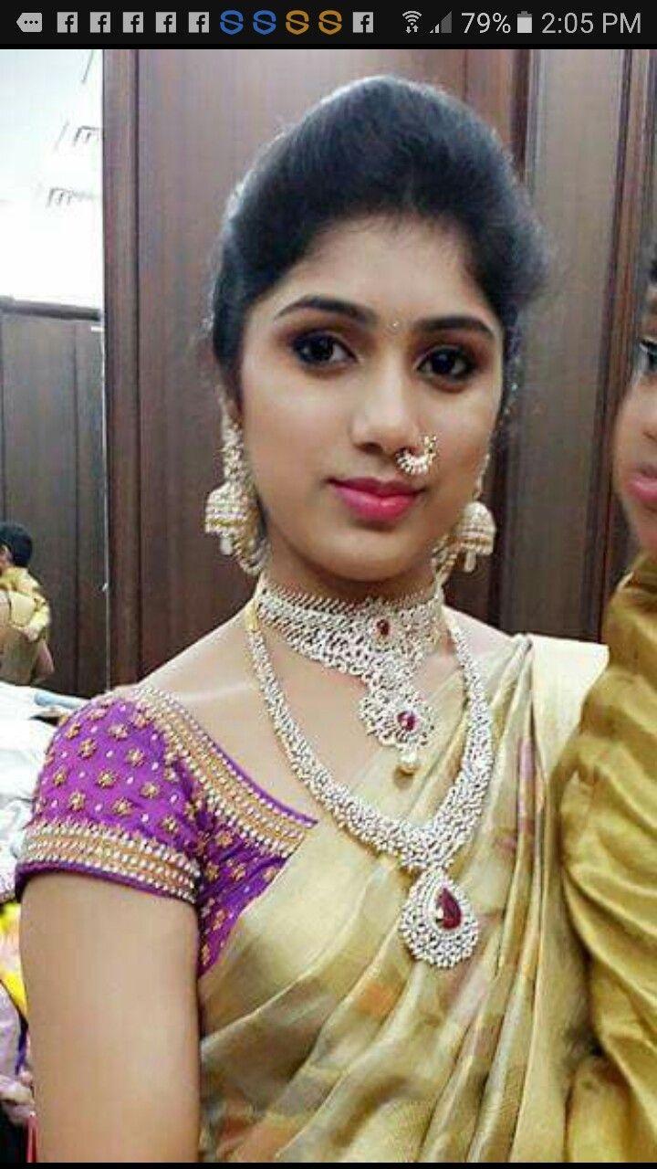 Pin by snehitha seshadri on Mangalyam 1 | Pinterest | Blouse ...