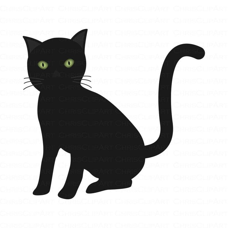 Black Cat Svg Clipart Black Cat Cat Png Cat Clipart Cats Etsy Cat Clipart Black Cat Clip Art