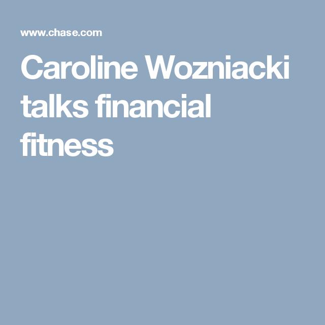 Caroline Wozniacki talks financial fitness