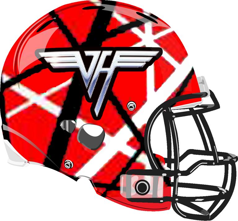Van Halen Helmet from a Fantasy Football League Van