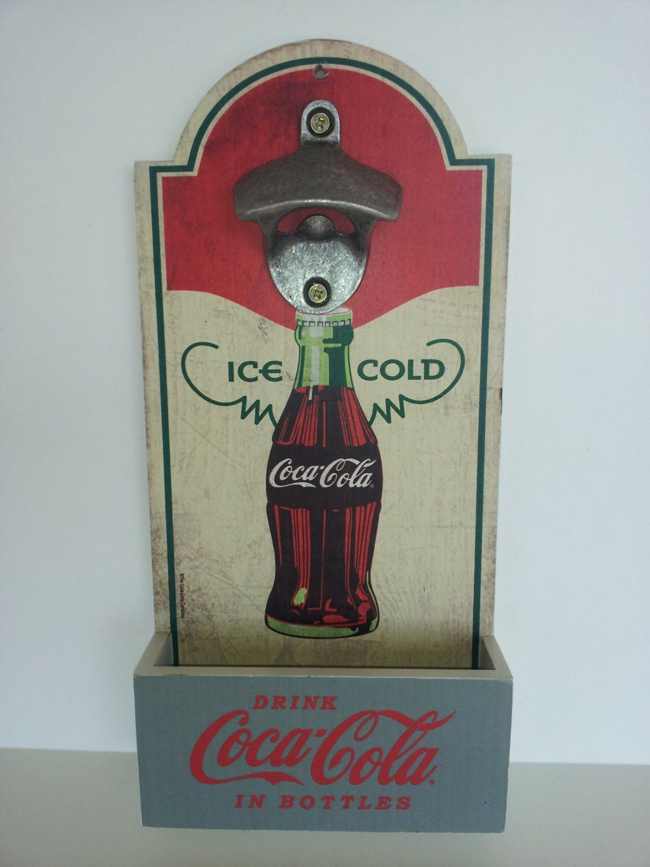 1950 S Vintage Style Coca Cola Bottle Cap Opener Catcher