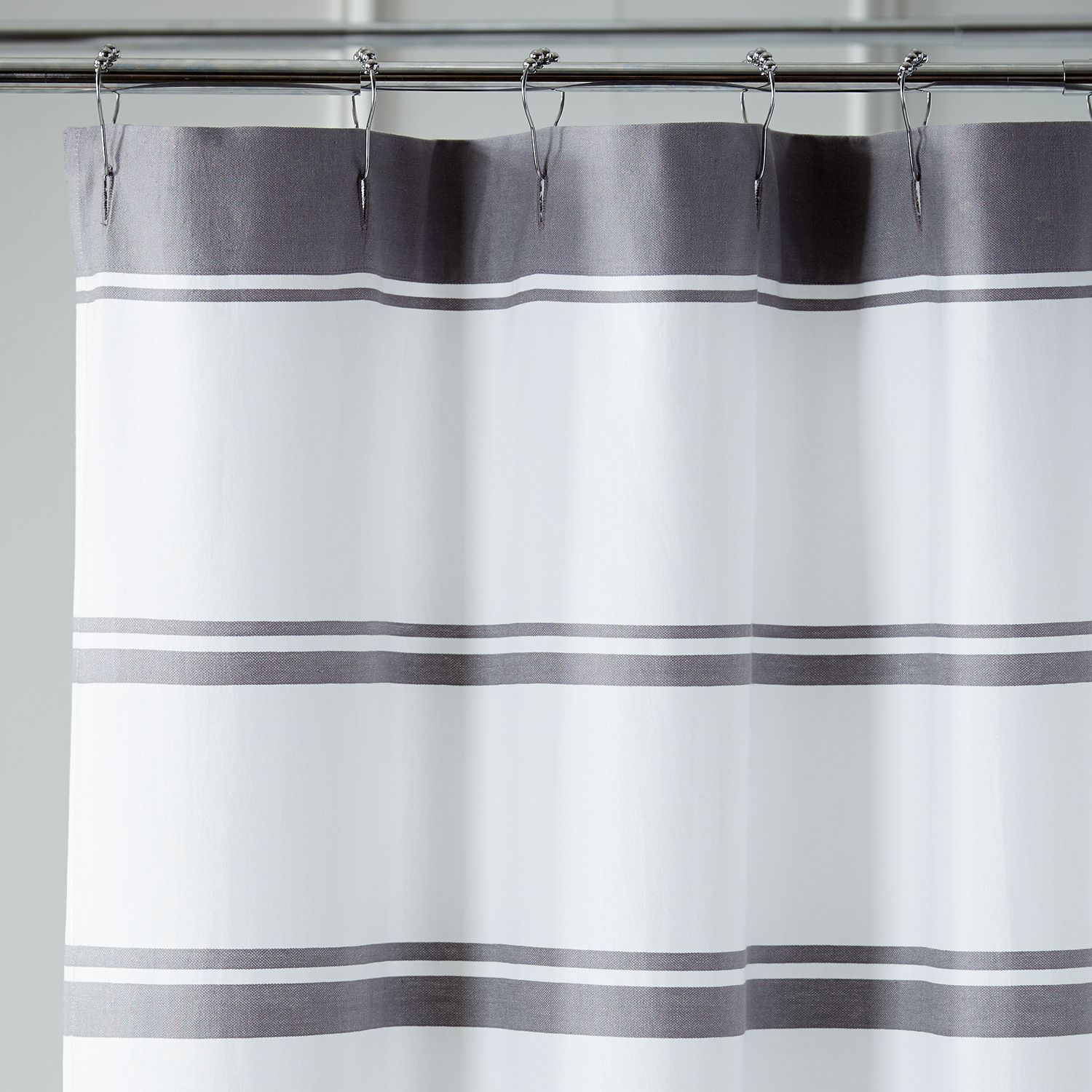 Striped charcoal shower curtain gray products