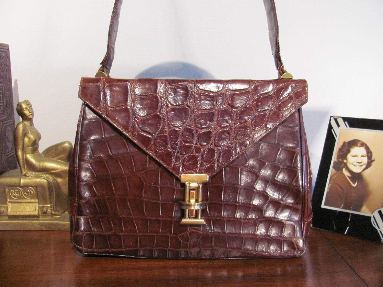 Deitsch Genuine Alligator Handbag 1940's by RetroRoxyRhonda, $145.00
