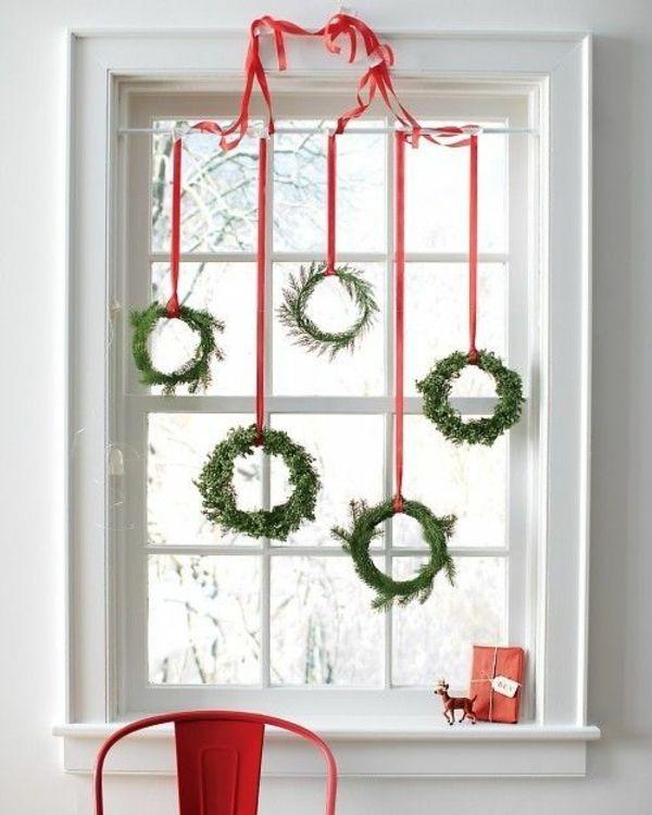 weihnachtskranz basteln weihnachts fensterdeko Ideen\/Basteln - weihnachtsdeko ideen