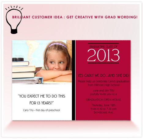 Brilliant Customer Idea Clever Graduation Announcement Wording - fresh invitation wording for trunk party