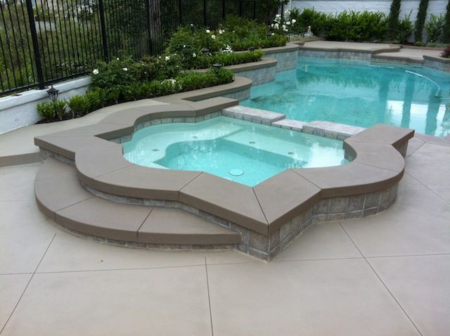 Image result for colored concrete coping around pool
